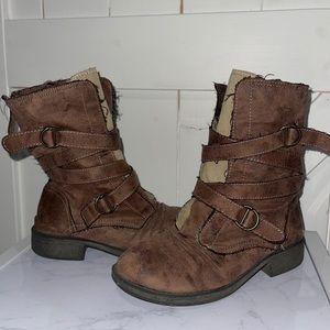 ROXY Mid Calf Brown Booties